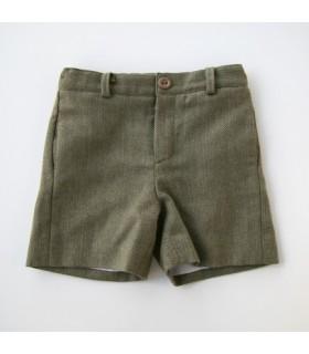 Green wool short