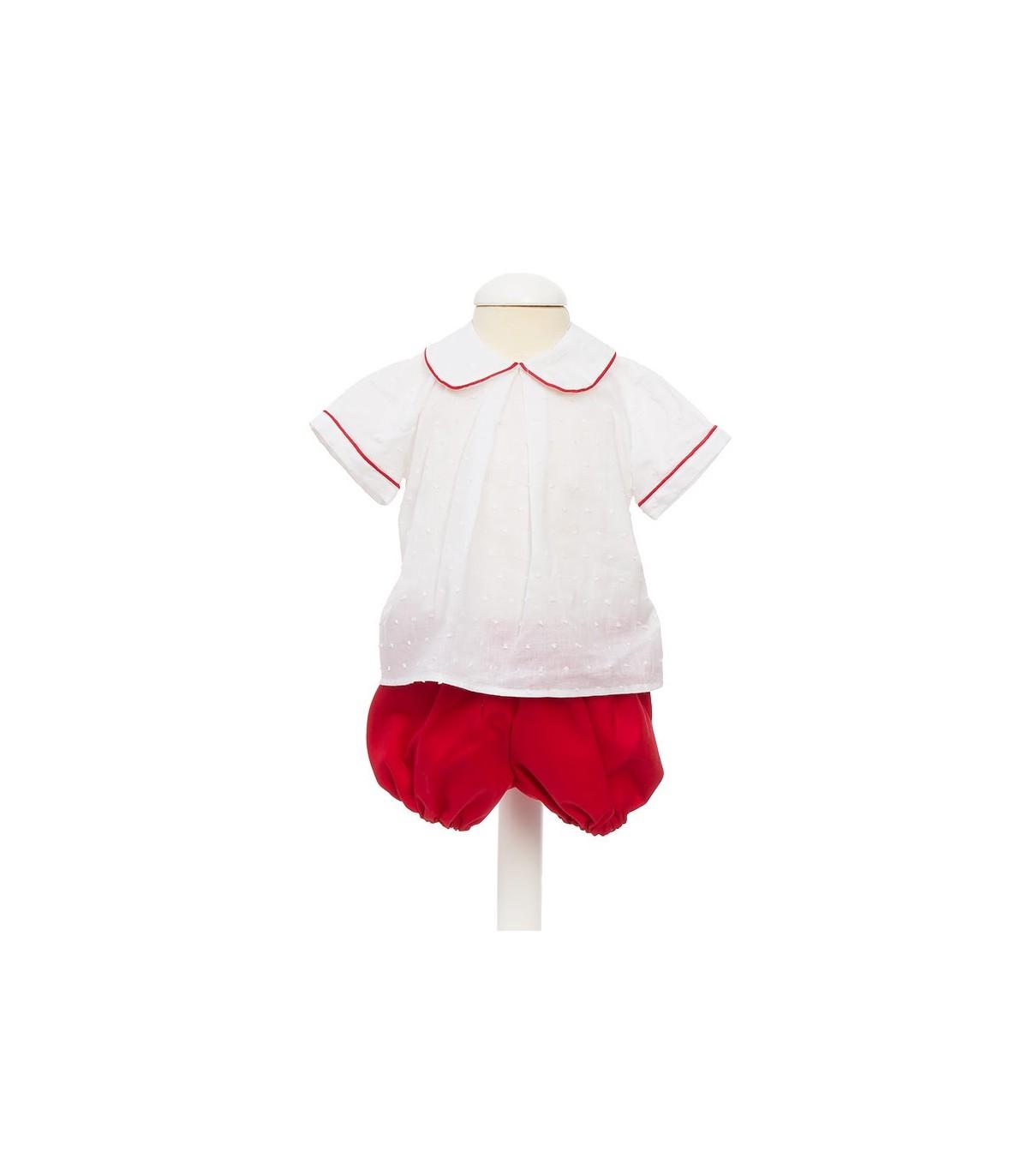ca8bd2d13 Conjunto bebe niño primavera. - Compuesto por camisa blanca...