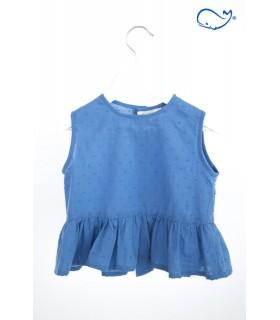 Camisa niña petalos