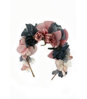 Diadema Tul y flores