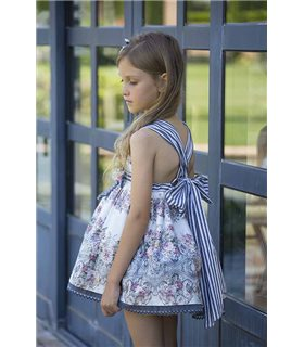 Vestido niña Orquidea estampado