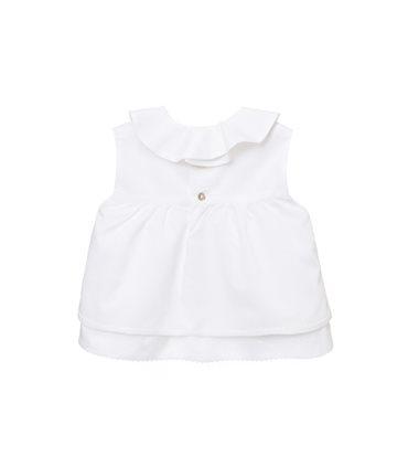 Camisas niña  Lirio blanca