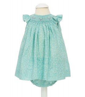 """Aguamarina"" Baby dress"