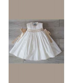 Paris smoked baby dress