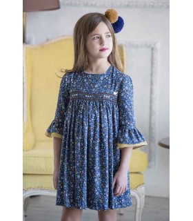 Paris smocked dress