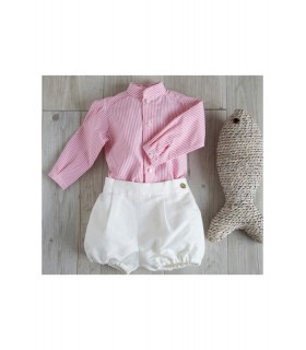 Camisa BB coral niño