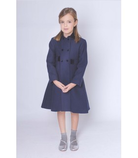 Girl coat with bow