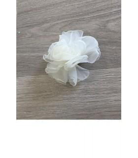 Flor grande tul arrugado